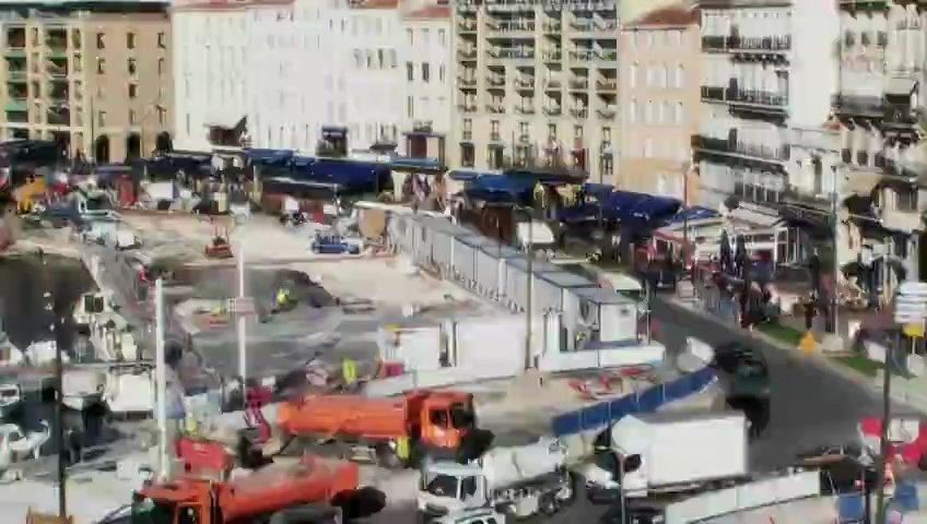 La requalification du Vieux-Port de Marseille en timelapse